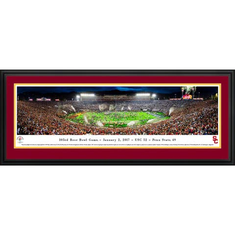 USC Trojan, Rose Bowl 2017 Champs, Blakeway Panoramas Framed Print