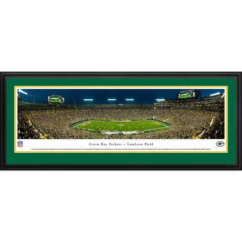 Green Bay Packers Blakeway Panoramas Framed NFL Print