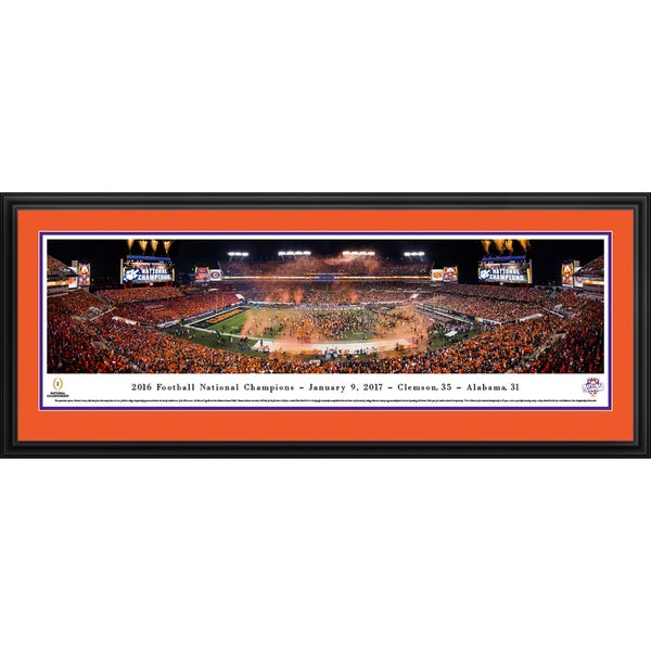 Clemson Tigers - 2016 National Champions - Blakeway Panoramas Framed Print