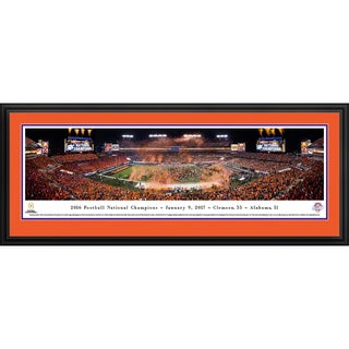 Clemson Tigers - 2016 National Champions - Blakeway Panoramas Framed Print
