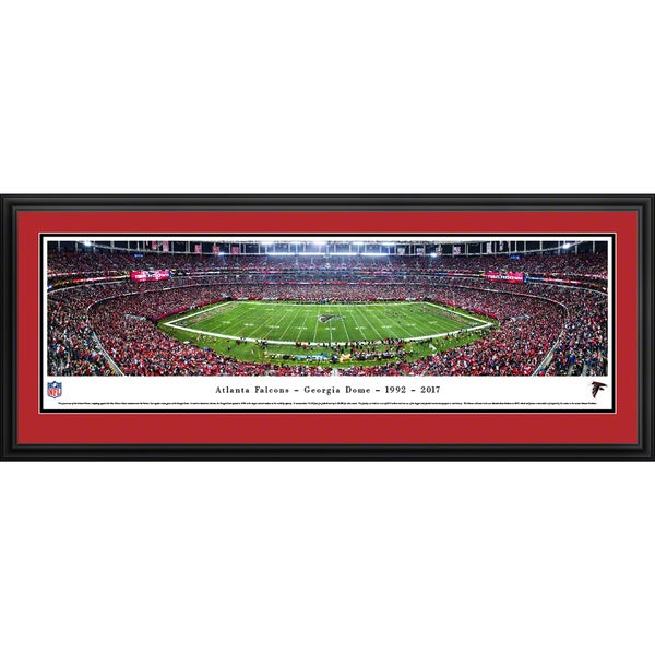 Atlanta Falcons - Final Game at Georgia Dome - Blakeway Panoramas Framed NFL Print