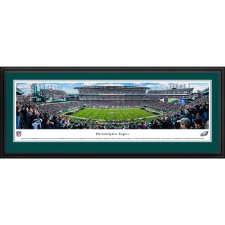 Philadelphia Eaglels - 50 Yard Line - Blakeway Panoramas Framed NFL Print
