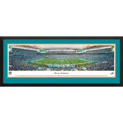 Blakeway Panoramas NFL Miami Dolphins Framed Print