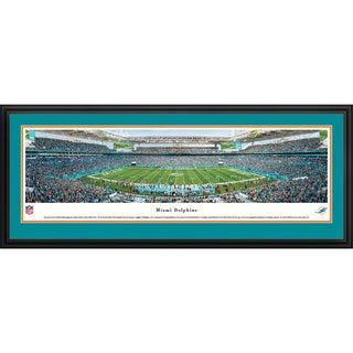Blakeway Panoramas Miami Dolphins Framed NFL Print