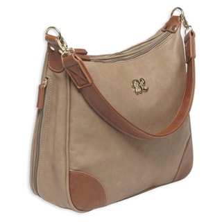 Bulldog Cases Hobo Style Purse w/Holster Taupe/Tan