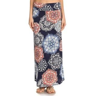 Women's Multicolored Medallion Maxi Skirt