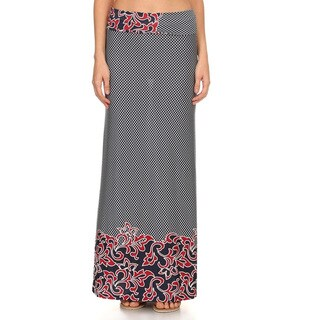 Women's Native Mixed Floral Maxi Skirt