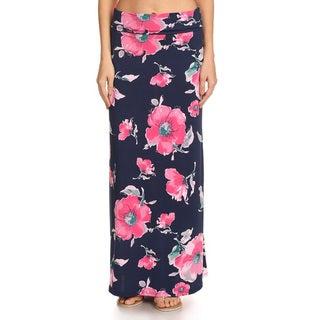 Women's Mixed Native Floral Maxi Skirt
