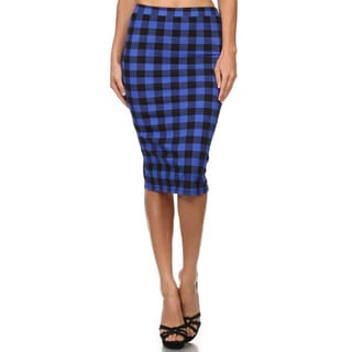 Women's Plaid Pencil Skirt