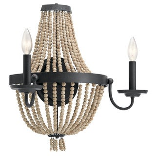 Kichler Lighting Brisbane Collection 2-light Distressed Black Wall Sconce