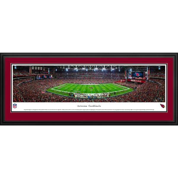 Arizona Cardinals - 50 Yard Line - Blakeway Panoramas Framed NFL Print