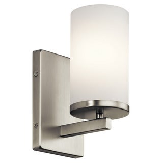 Kichler Lighting Crosby Collection 1-light Brushed Nickel Wall Sconce