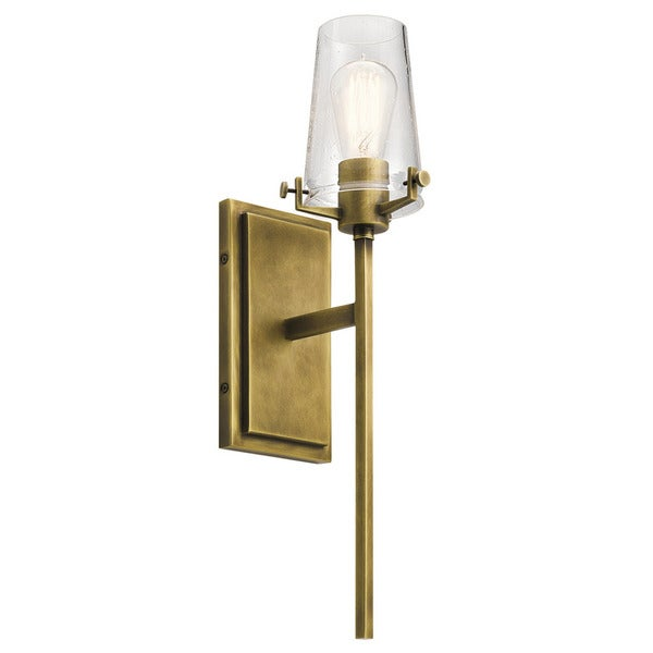 Kichler Lighting Alton Collection 1 Light Natural Brass Wall Sconce