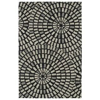 Hand-Tufted Lola Mosaic Black Cobblestone Wool Rug (9'6 x 13'0)