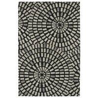 "Hand-Tufted Lola Mosaic Black Cobblestone Wool Rug - 9'6"" x 13'"