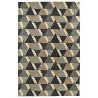 Hand-Tufted Lola Mosaic Charcoal Tiffany Wool Rug (9'6 x 13'0)