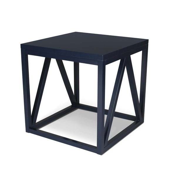 Kaya Wood Cube Side Table