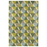 Hand-Tufted Lola Mosaic Lime Green Tiffany Wool Rug - 9'6 x 13'