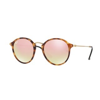 Ray-Ban RB2447 11607O Round Fleck Tortoise Frame Copper Gradient Flash 49mm Lens Sunglasses