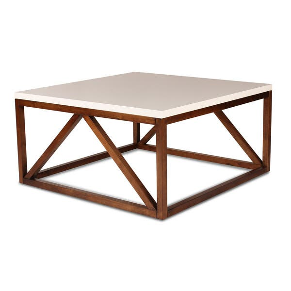 Strick Bolton Kinji Wood Two Toned Square Coffee Table Overstock 14220398