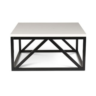 Kate and Laurel Kaya Two-Toned Wood Square Coffee Table