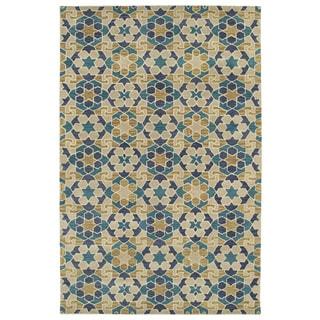 Hand-Tufted Lola Mosaic Sand Wool Rug (9'6 x 13'0)