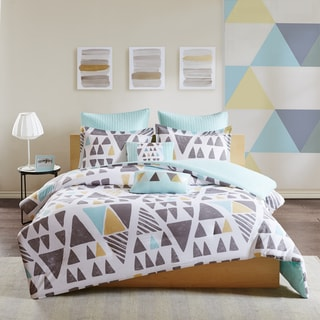 Urban Habitat Levi Aqua 7-Piece Cotton Duvet Cover Set