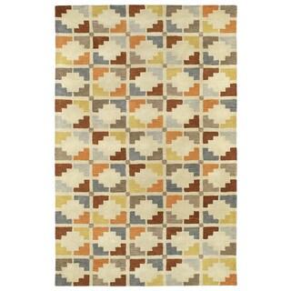 Hand-Tufted Lola Mosaic Sand Motif Wool Rug (9'6 x 13'0)