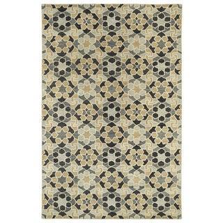 Hand-Tufted Lola Mosaic Charcoal Wool Rug (9'6 x 13'0)