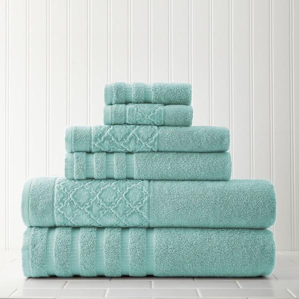 Amrapur Overseas Velour Diamond Jacquard 6-piece Towel Set