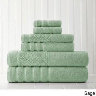 Velour Diamond Jacquard 6-piece Towel Set