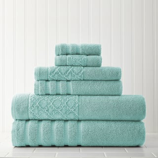 Velour Diamond Jacquard 6-piece Towel Set