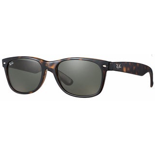 Ray-Ban RB2132 902 New Wayfarer Classic Tortoise Frame Green Classic 55mm Lens Sunglasses