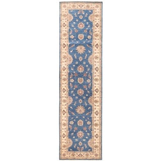 Herat Oriental Afghan Hand-knotted Vegetable Dye Oushak Wool Runner (3'2 x 11'10)