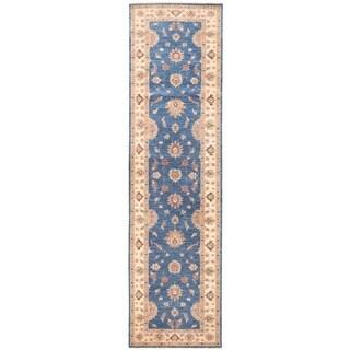 Handmade Herat Oriental Afghan Vegetable Dye Oushak Wool Runner - 3'2 x 11'10 (Afghanistan)
