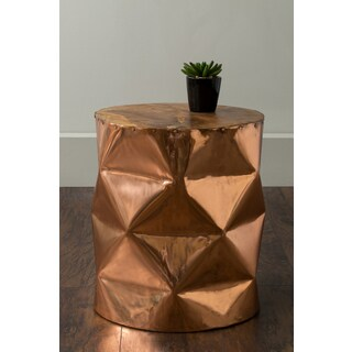 East At Main's Louin Copper Round Copper Accent Table
