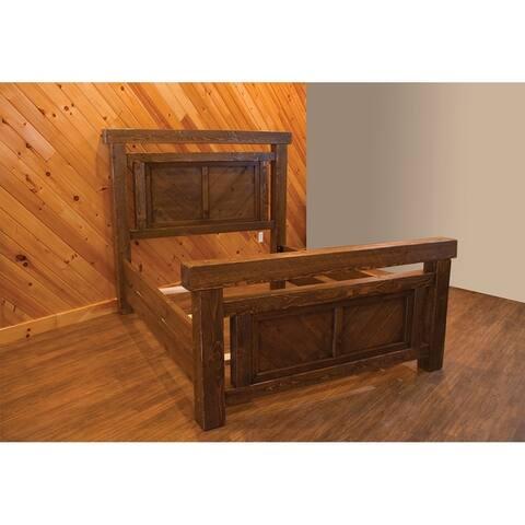 Barnwood Style Timber Peg - Panel Bed