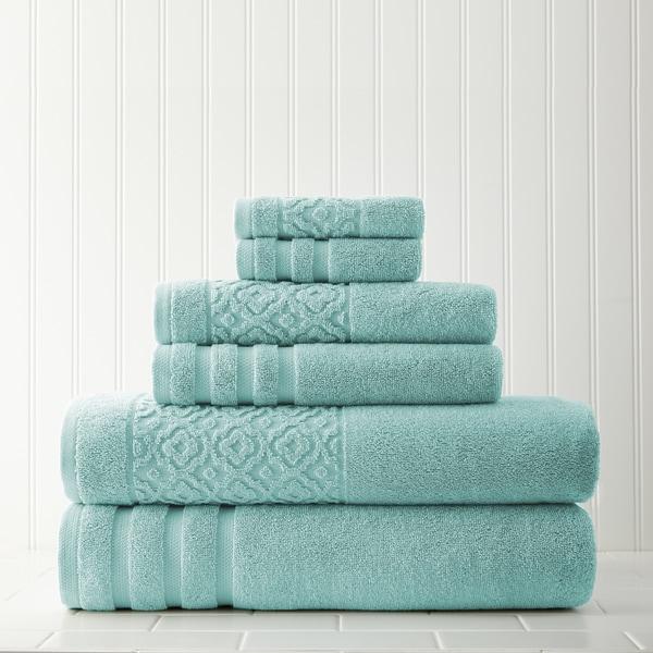 Amrapur Overseas Trellis Jacquard Border 6-piece Towel Set
