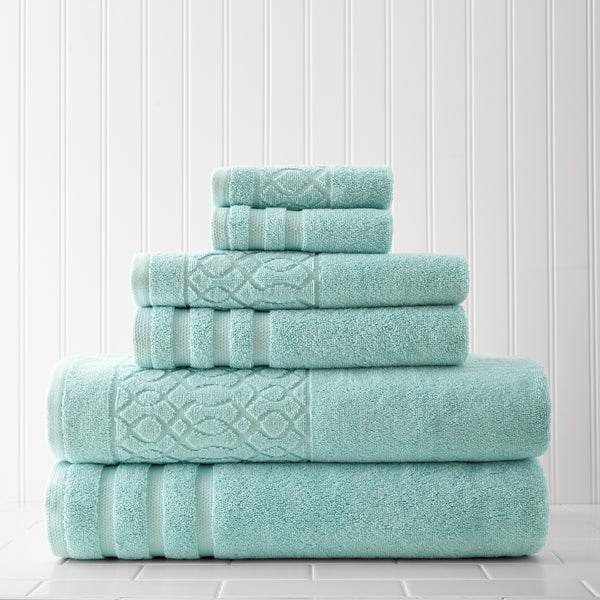 Amrapur Overseas Kiev Chain Jacquard Border 6-piece Towel Set