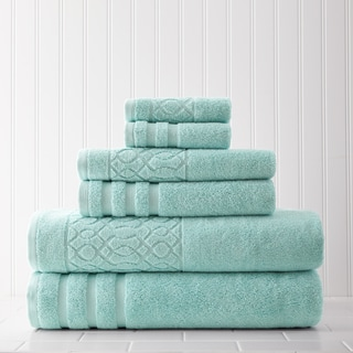 Kiev Chain Jacquard Border 6-piece Towel Set