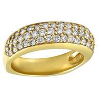 14k Yellow Gold 1ct TDW Diamond Band Ring