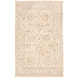 Herat Oriental Afghan Hand-knotted Vegetable Dye Oushak Wool Rug (2'11 x 4'8)