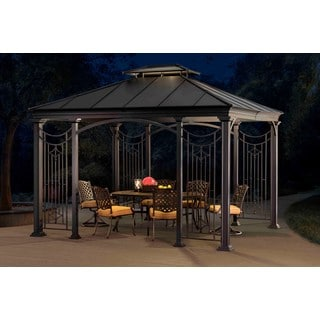 Sunjoy Black Top Branson Gazebo