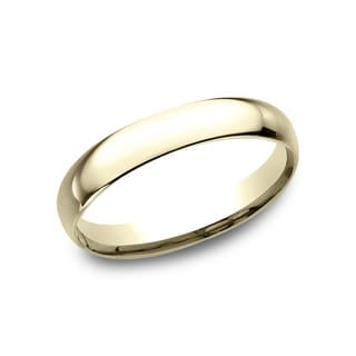 18K Yellow Gold Women's Comfort-Fit Traditional Wedding Band
