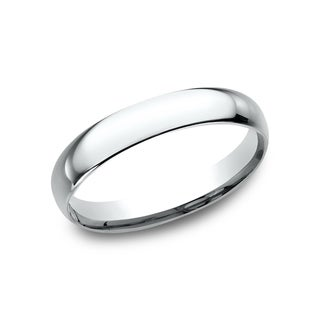 Men's 18k 3mm White Gold Comfort-fit Traditional Wedding Band