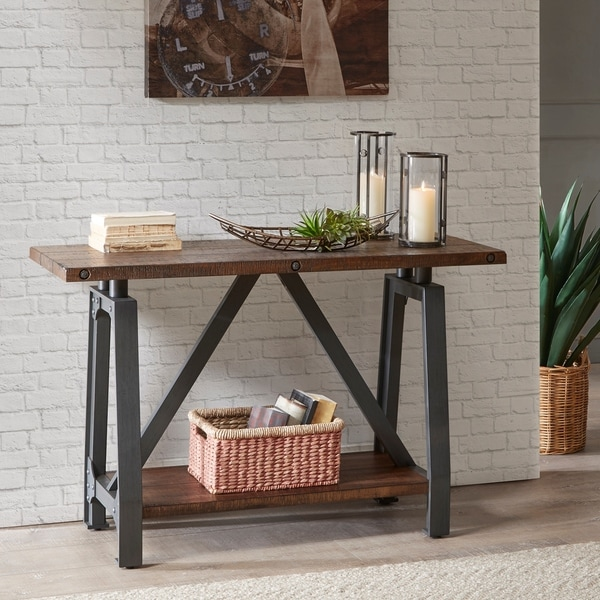 INK+IVY Lancaster Amber/ Graphite Console Table