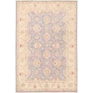 Herat Oriental Afghan Hand-knotted Vegetable Dye Oushak Wool Rug (4'2 x 6'2)
