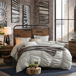 INK+IVY Renu Multi/ Gun Queen Headboard