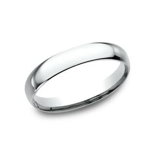 Ladies' 18k White Gold 3mmComfort-fit Traditional Wedding Band