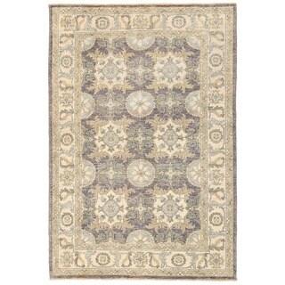 Herat Oriental Afghan Hand-knotted Vegetable Dye Khotan Wool Rug (4'2 x 6'2)